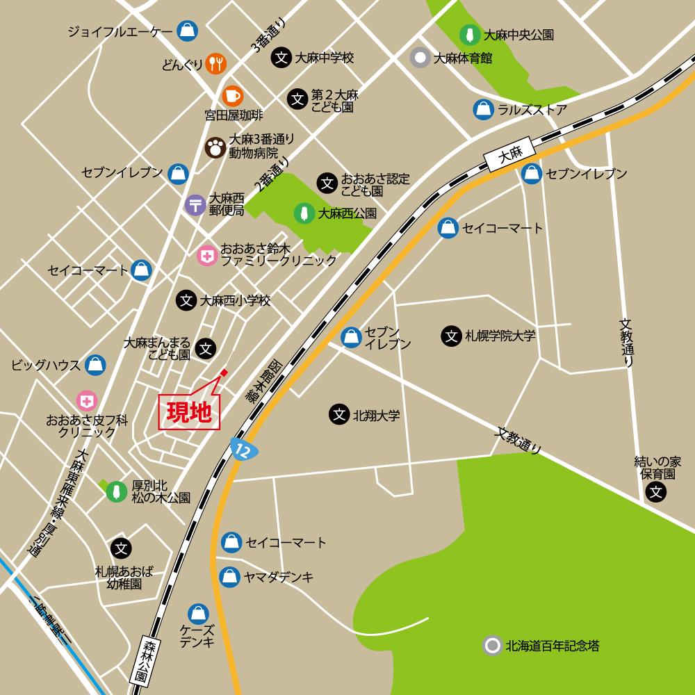 江別市大麻西町map
