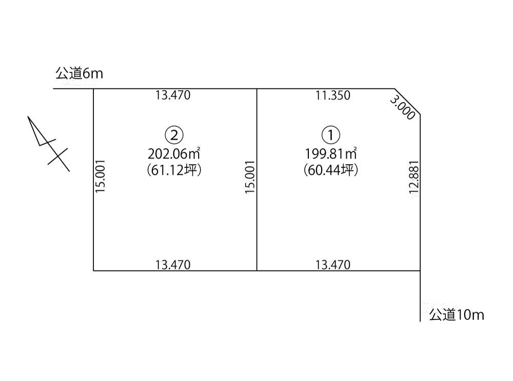 石狩市花川南1-3_区画図