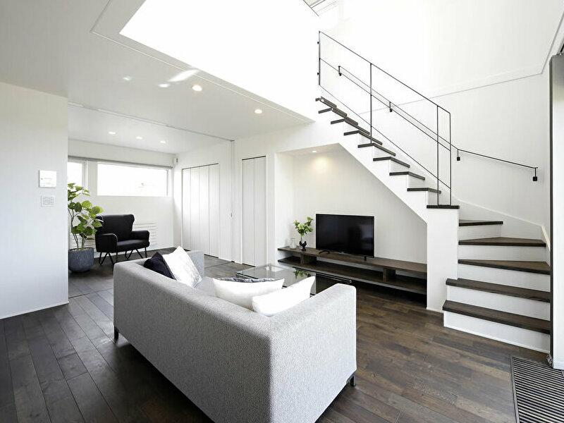 豊栄建設苗穂モデルハウスのリビング