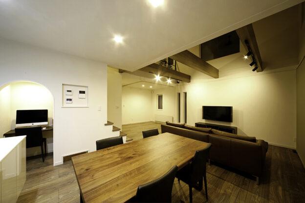 暮らしも趣味も楽しくなる、空間の使い方にこだわった家